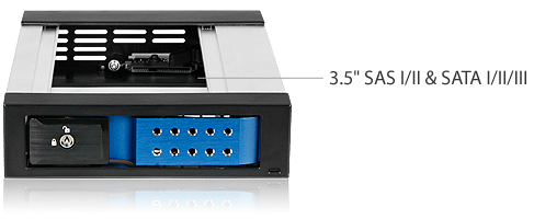 iStarUSA BPN-DE350SS-SILVER Silver SAS SATA 6.0 Gb//s Trayless Hot-Swap Cage